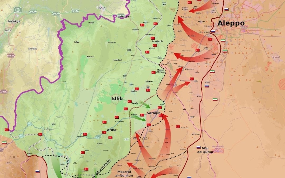 What is happening in Idlib province?