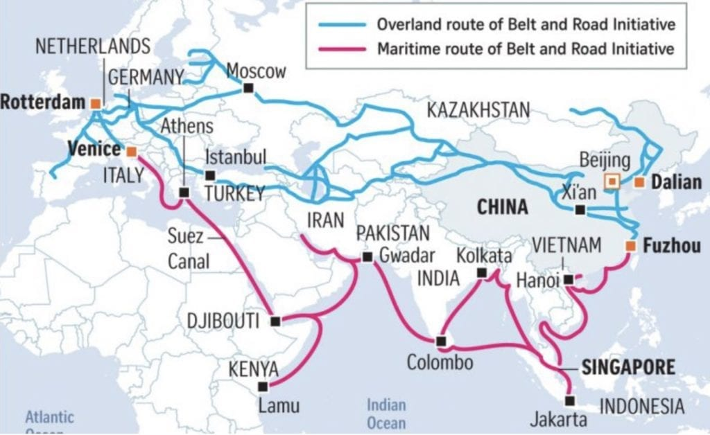 Figure 3. Belt and Road Initiative (BRI) Map