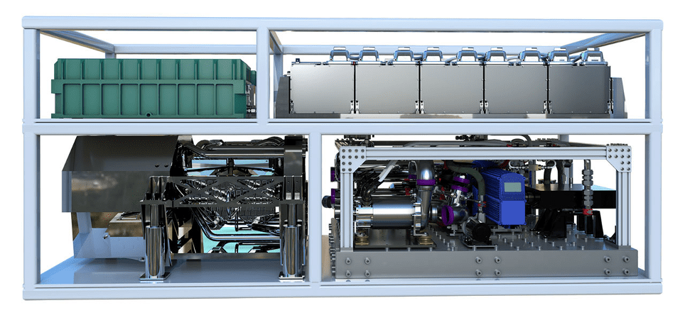 Figure 2: 100 kW-class High Energy Laser with scalable output (Courtesy of General Atomics)